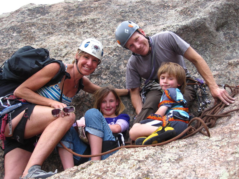Great climb for the whole family, daughter 9, son 4.
