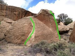 Rock Climbing Photo: Sesame Street(v1) is the leftmost line Tall Arete(...