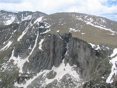 Rock Climbing Photo: Black Wall, June 22nd, 2013.