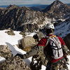 The summit ridge.