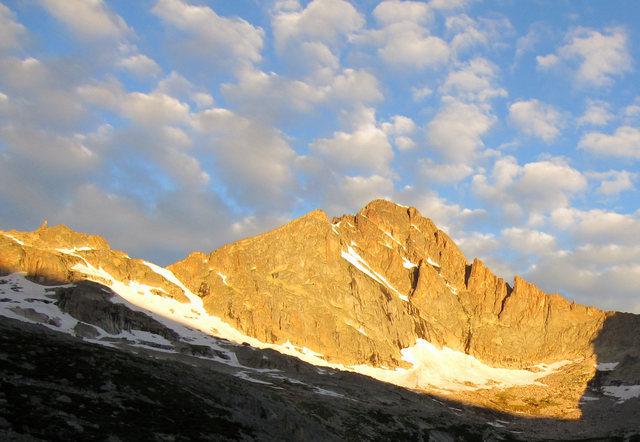 McHenry's Peak in Glacier Gorge.