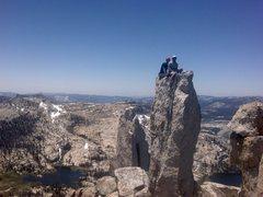 Rock Climbing Photo: Vincent and Paul on Panic Pillar.