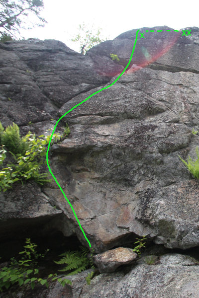 Rock Climbing Photo: here is the route... i cleaned out a few plants......