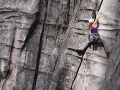 Rock Climbing Photo: Bronwyn Burman on P1 of Sinbad-Herbert