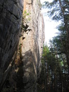 Rock Climbing Photo: Geometry wall. Trihardral is the route with the ro...