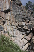 Rock Climbing Photo: Deceptively easy looking Scantily Trad with two ki...