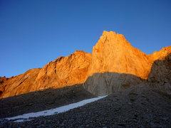 Rock Climbing Photo: Alpenglow