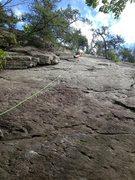 Rock Climbing Photo: steve leading on Raising Arizona