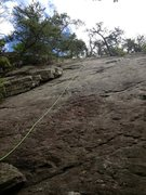 Rock Climbing Photo: you can kinda imagine the bolt line from this. it ...