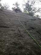 Rock Climbing Photo: just past the 2nd bolt. some really fun friction c...