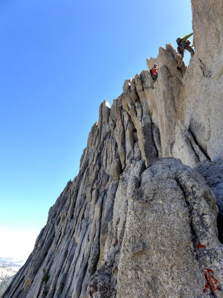 Rock Climbing Photo: the step across on the second half of the traverse