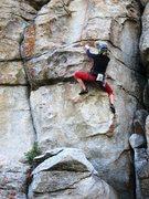 Rock Climbing Photo: Britta grabbin' a lap on Life Without Sex