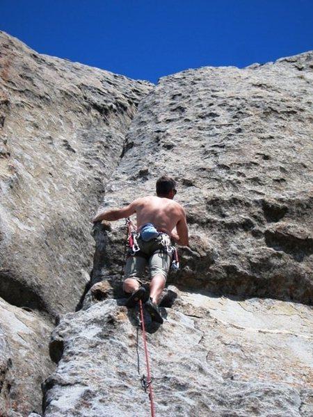 Rock Climbing Photo: Matt showin' off his Muffin Top
