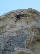 Rock Climbing Photo: DB tops out FDC