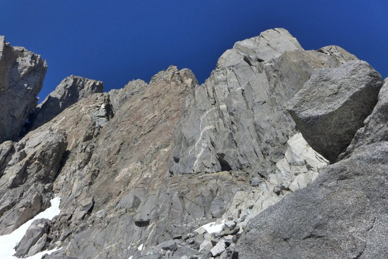 Rock Climbing Photo: start of the route from Tbolt Pass