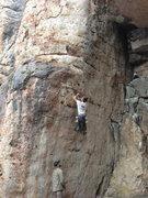 Rock Climbing Photo: Starting up Oftedal Serenade 5.11a/b.