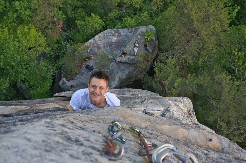 Rock Climbing Photo: cheesin hard on strike a scowl