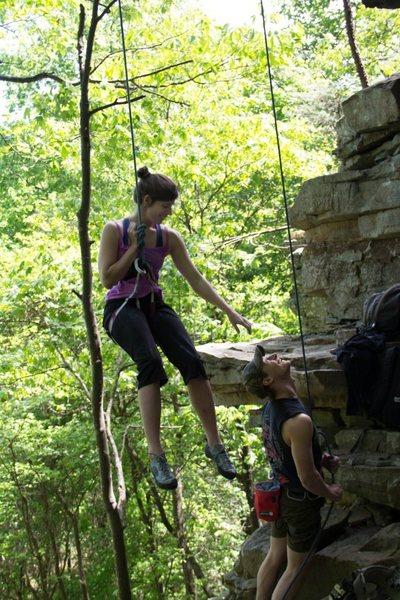 Rock Climbing Photo: Happy sending
