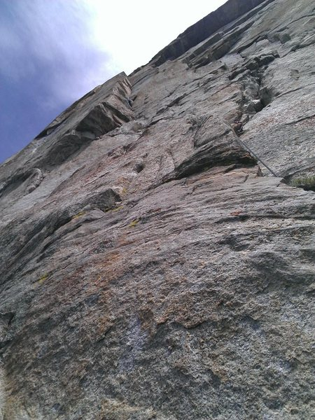 Afterburner pitch on Flathead Buttress