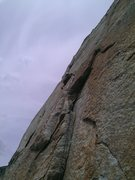 Rock Climbing Photo: Spacecat on Flathead Buttress, just above small ro...