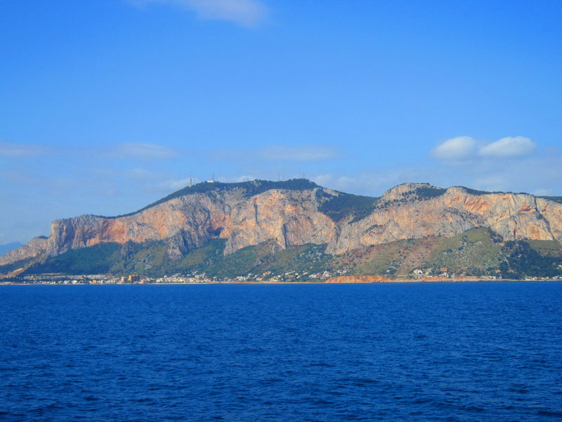 The crags above Palermo, Sicily.