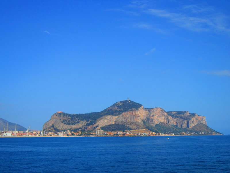 A different view of the rock above Palermo.