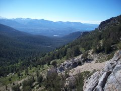 Rock Climbing Photo: Looking West/north from belay ledge