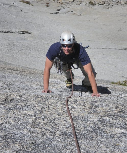 Rock Climbing Photo: Tristan on pitch 1
