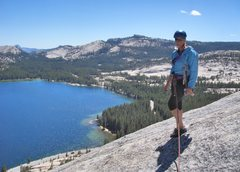 Rock Climbing Photo: View from the top, with Half Dome on far left