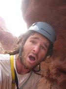 Rock Climbing Photo: Topping out a 10x10 ft tower summit in static elec...