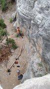 Rock Climbing Photo: me on Mary Jane. Amazing route