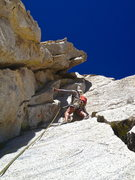 Rock Climbing Photo: A great 5.8 variation right of the chimney. If the...
