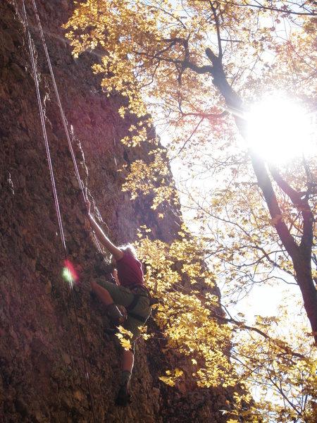 Rock Climbing Photo: Climbing with my Daughter