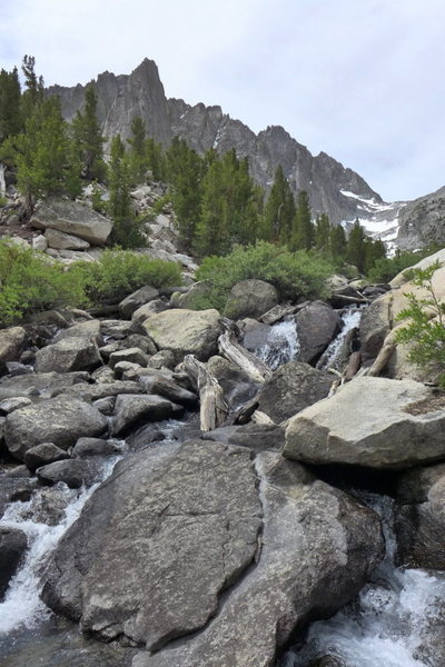 Rock Climbing Photo: stream crossing in a low snow year (June 2013)