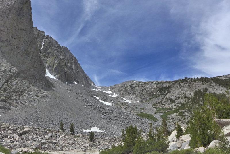 looking up toward Galey Camp