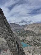 Rock Climbing Photo: a few dark clouds building