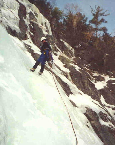 Ice climbing, Newfound Lake, New Hamsphire circa 2002?