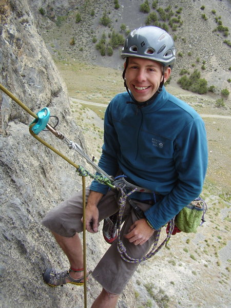 Rock Climbing Photo: Finished setting up the rap in Box Canyon, Howe, I...