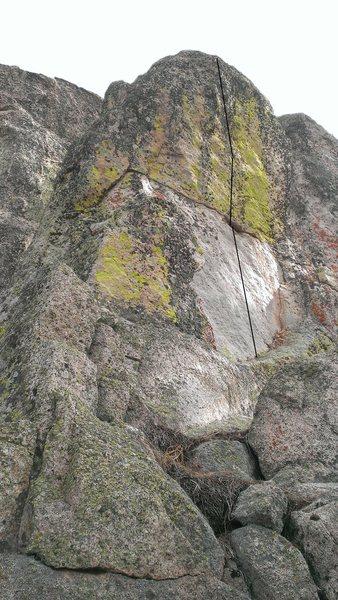 Oxidation covered in lichen