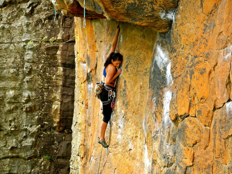 Rock Climbing Photo: Slab section