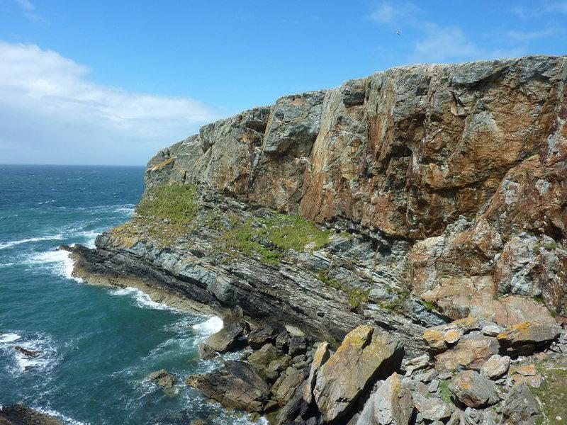 Rock Climbing Photo: Sea cliff climbing