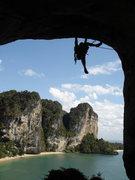 Rock Climbing Photo: Brian Cornwell holding on...