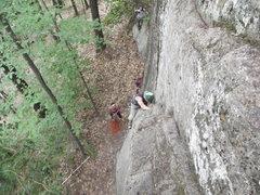 Rock Climbing Photo: James on Freakers Ball