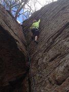 Rock Climbing Photo: 5.10b TR  Chatfield Hollow CT