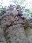 Rock Climbing Photo: Jorden goin up