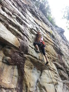 Rock Climbing Photo: Chunko Goes Bowling at the Orange Oswald Wall