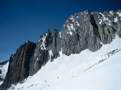 Rock Climbing Photo: Spring approach to North Couloir