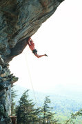 Rock Climbing Photo: Seth Tart cutting loose on the 1st crux of Primal ...