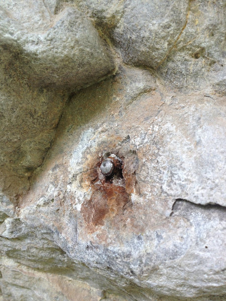 Rock Climbing Photo: The old 2nd bolt on Plastic Prince that broke when...