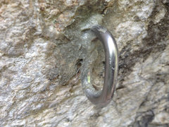 Rock Climbing Photo: New 1st bolt on Plastic Prince, a glue-in WaveBolt...